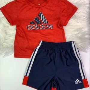 Adidas Baby Boy Shorts & Top Outfit